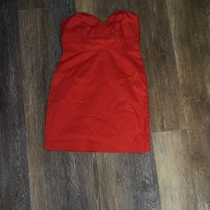 Strapless Red Mini Dress